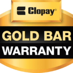 CLOPAY GOLD BAR WARRANTY LOGO