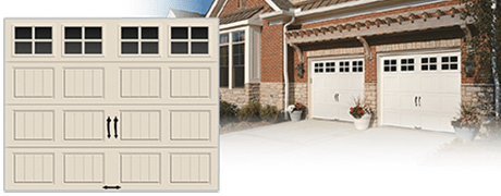 semi custom steel GARAGE door WITH HANDLES