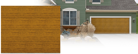 MODERN COLLECTION WOOD GRAIN STEEL GARAGE DOOR