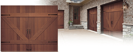 REAL WOOD CEDAR, OAK, MAHOGONY GARAGE DOOR