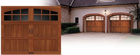REAL WOOD SEMI CUSTOM GARAGE DOORS