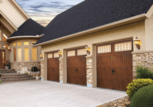 Steel Carriage garage Door Colorado-Wood grain Garage Door Design With Windows. Clopay Gallery Collection