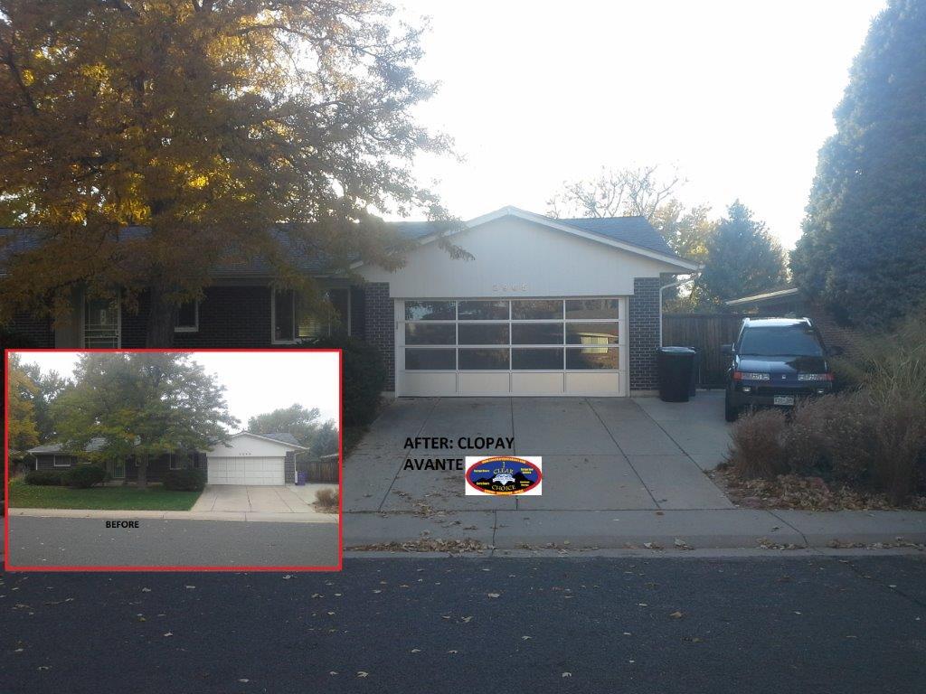 Avante Before and after garage door install