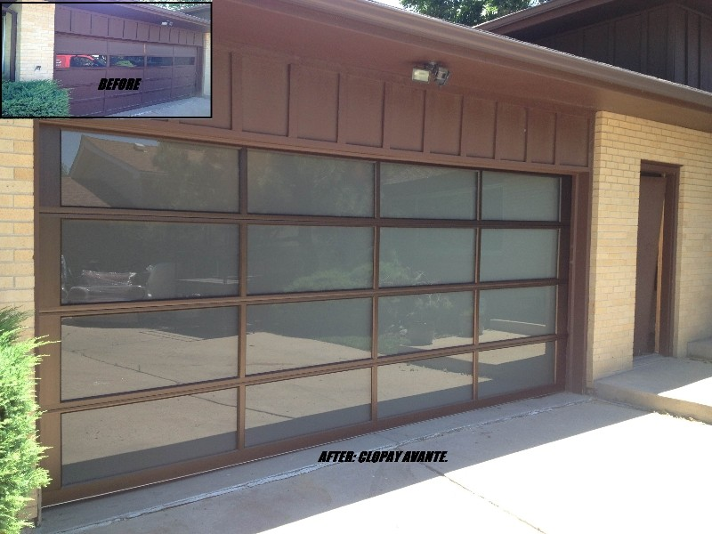 ALL GLASS GARAGE DOOR INSTALLED
