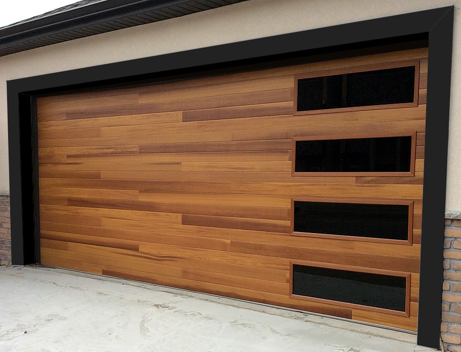 2017 garage door trends one clear choice garage doors for Wood looking garage doors