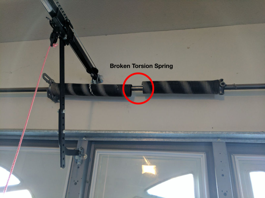 Upgrade From Two To Four Torsion Spring System One Clear