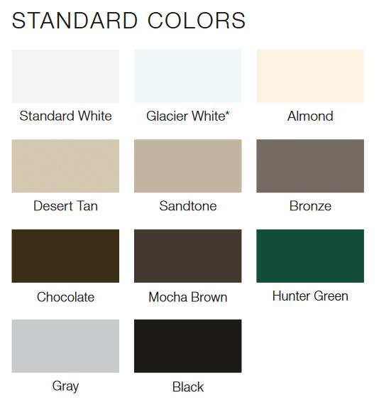 modern steel std colors