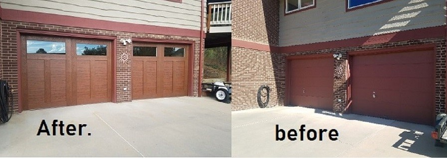 new garage door canyon ridge ultra grain installed