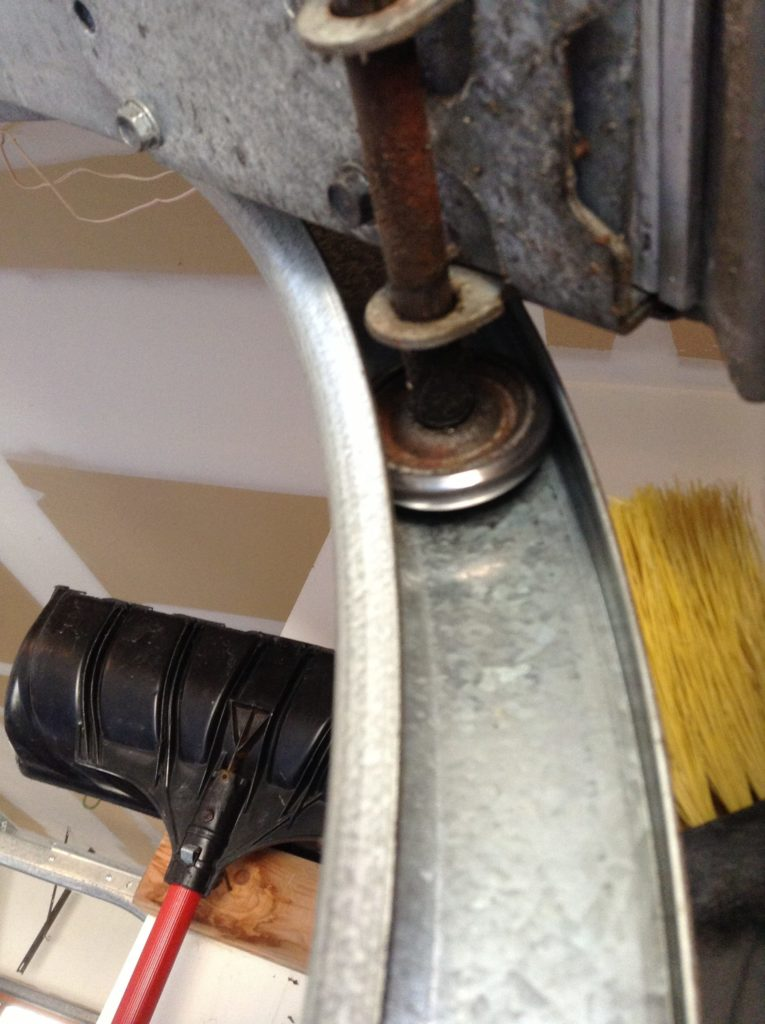 noisy garage door roller replace bad garage door roller