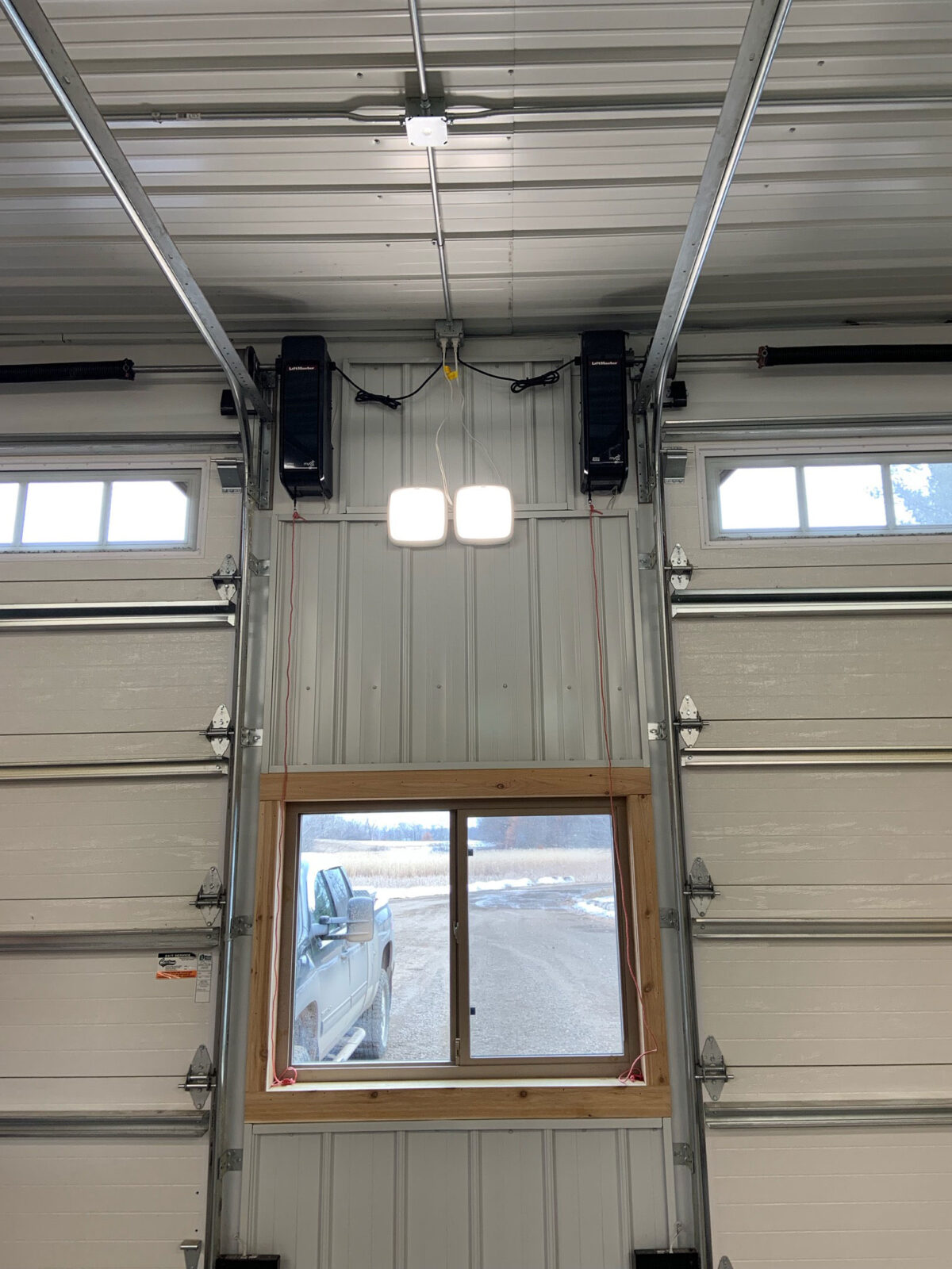 HIGHLIFT TRACK INSTALL WITH SIDE MOUNTED GARAGE DOOR OPENER