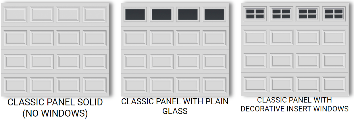 8X7 CLASSIC STEEL PANEL GARAGE DOORS