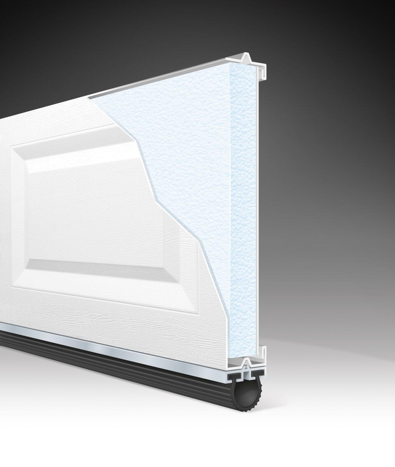 CLASSIC GARAGE DOOR STYRENE 1.5 CUTAWAY