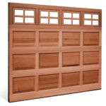 CLASSIC PANE WOOD GARAGE DOOR RAISED PANEL