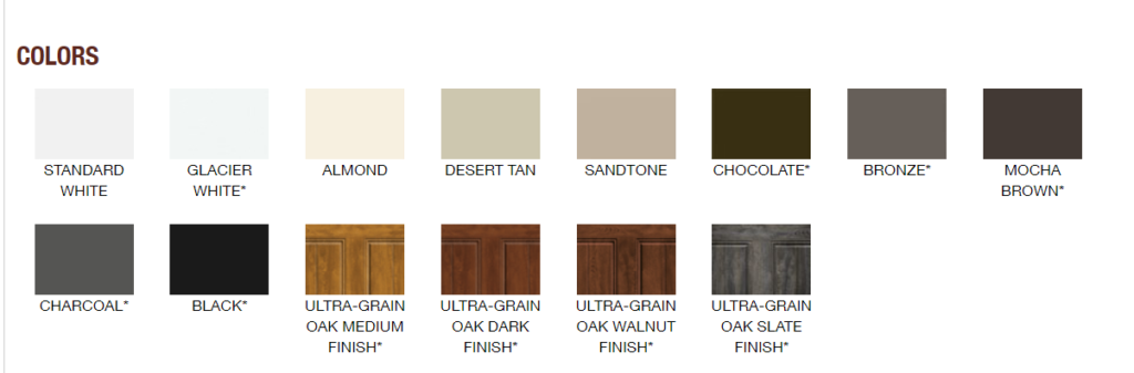 GALLERY COLOR OPTIONS