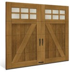 canyon ridge limited edition faux wood garage door