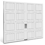 gallery garage door white steel classic