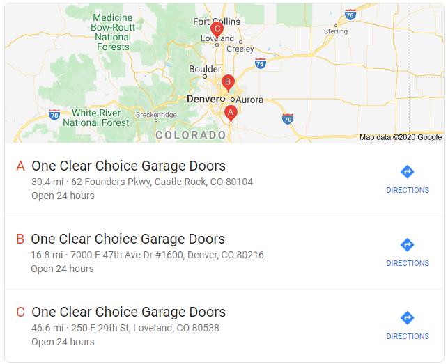 garage door locations near golden colorado