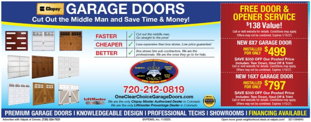 one clear choice valpak door pricing details